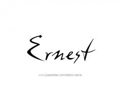 tattoo-design-name-ernest-01