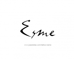 tattoo-design-name-esme-01