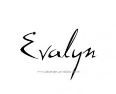 tattoo-design-name-evalyn-01