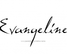 tattoo-design-name-evangeline-01