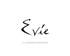 tattoo-design-name-evie-01