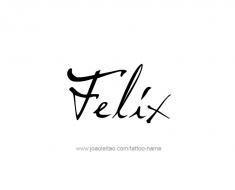 tattoo-design-name-felix-01