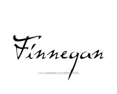 tattoo-design-name-finnegan-01
