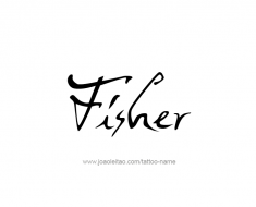 tattoo-design-name-fisher-01
