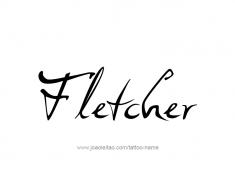 tattoo-design-name-fletcher-01