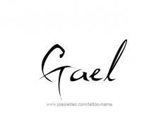 tattoo-design-name-gael-01