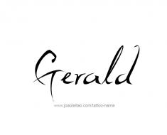 tattoo-design-name-gerald-01