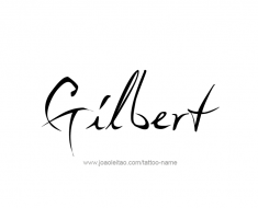 tattoo-design-name-gilbert-01