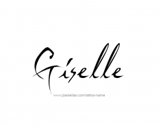 tattoo-design-name-giselle-01