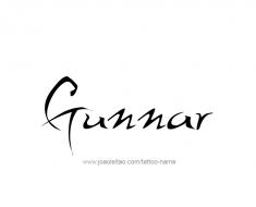 tattoo-design-name-gunnar-01