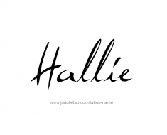 tattoo-design-name-hallie-01
