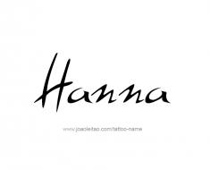 tattoo-design-name-hanna-01