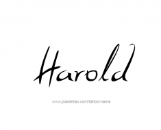 tattoo-design-name-harold-01