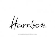 tattoo-design-name-harrison-01