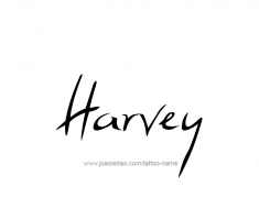 tattoo-design-name-harvey-01
