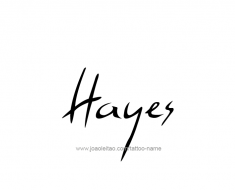 tattoo-design-name-hayes-01
