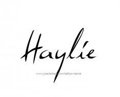 tattoo-design-name-haylie-01