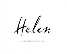 tattoo-design-name-helen-01