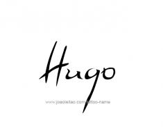 tattoo-design-name-hugo-01