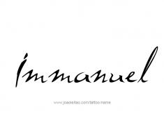 tattoo-design-name-immanuel-01