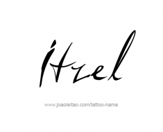tattoo-design-name-itzel-01