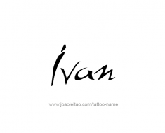 tattoo-design-name-ivan-01