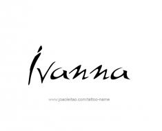 tattoo-design-name-ivanna-01