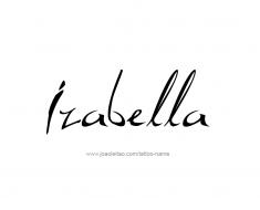 tattoo-design-name-izabella-01