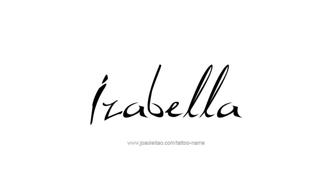 izabella name tattoo designs. Black Bedroom Furniture Sets. Home Design Ideas
