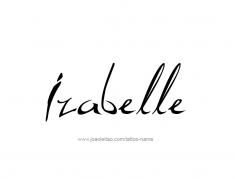 tattoo-design-name-izabelle-01