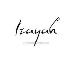 tattoo-design-name-izayah-01
