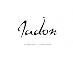 tattoo-design-name-jadon-01