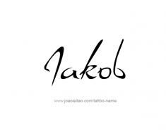 tattoo-design-name-jakob-01