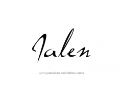 tattoo-design-name-jalen-01