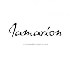 tattoo-design-name-jamarion-01