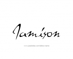 tattoo-design-name-jamison-01