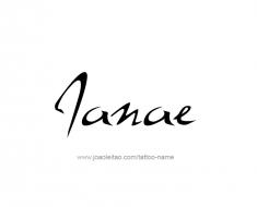 tattoo-design-name-janae-01