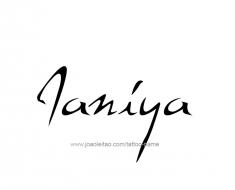 tattoo-design-name-janiya-01