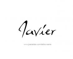 tattoo-design-name-javier-01