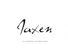 tattoo-design-name-jaxen-01
