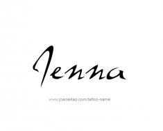 tattoo-design-name-jenna-01