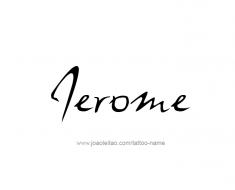 tattoo-design-name-jerome-01