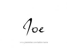 tattoo-design-name-joe-01