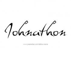 tattoo-design-name-johnathon-01