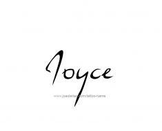 tattoo-design-name-joyce-01