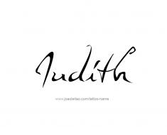 tattoo-design-name-judith-01