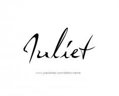 tattoo-design-name-juliet-01