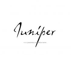 tattoo-design-name-juniper-01