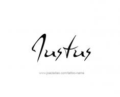 tattoo-design-name-justus-01