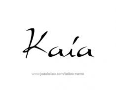 tattoo-design-name-kaia-01
